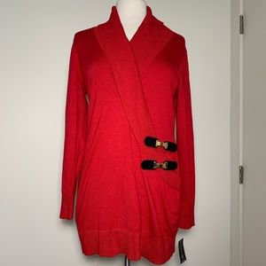 INC International Concepts NWT Red Buckle Tunic